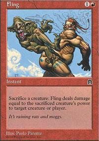 Fling Magic Card