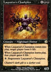 Laquatus's Champion Magic Card