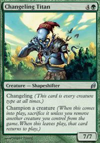 Changeling Titan Magic Card