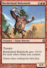 Borderland Behemoth Magic Card