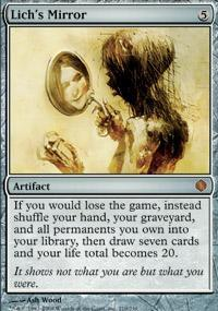 Lich's Mirror Magic Card