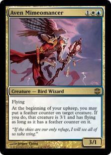 Aven Mimeomancer Magic Card