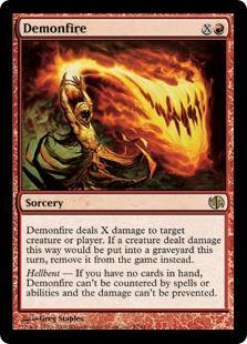 Demonfire Magic Card