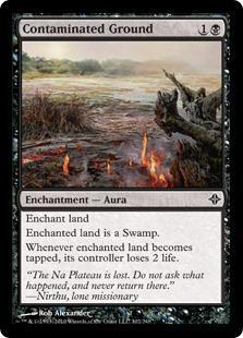 Contaminated Ground Magic Card