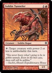 Goblin Tunneler Magic Card