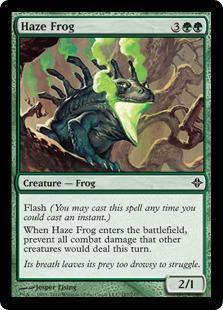 Haze Frog Magic Card