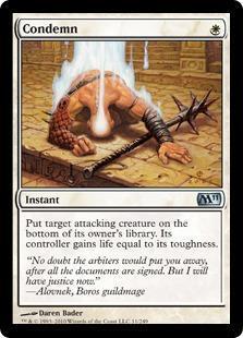 Condemn Magic Card