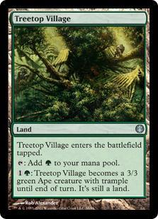 Treetop Village Magic Card