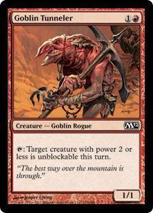Goblin Tunneler Magic Card