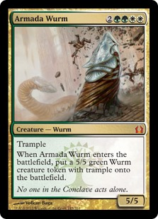 Armada Wurm Magic Card