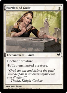Burden of Guilt Magic Card
