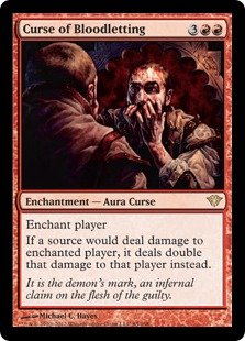 Curse of Bloodletting Magic Card