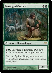 Deranged Outcast Magic Card