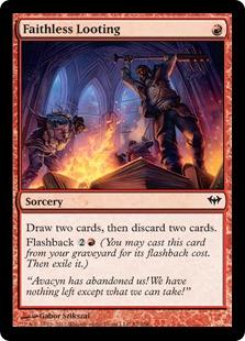 Faithless Looting Magic Card
