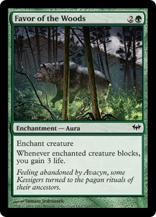 Favor of the Woods Magic Card
