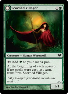 Scorned Villager Magic Card