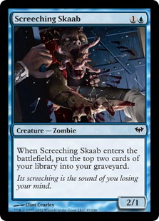 Screeching Skaab Magic Card