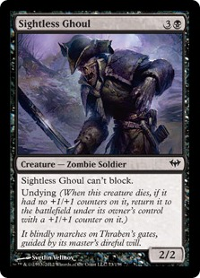 Sightless Ghoul Magic Card
