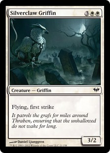 Silverclaw Griffin Magic Card