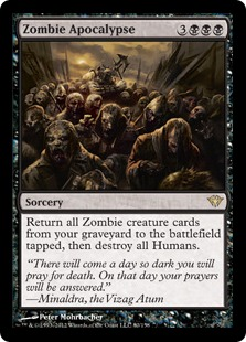 Zombie Apocalypse Magic Card