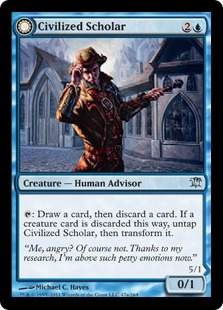 Civilized Scholar Magic Card