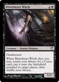 Bitterheart Witch Magic Card