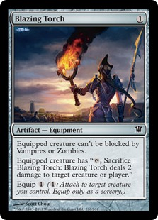 Blazing Torch Magic Card