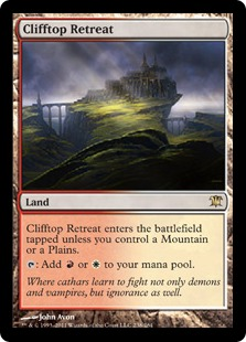 Clifftop Retreat Magic Card