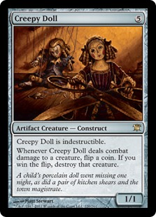 Creepy Doll Magic Card