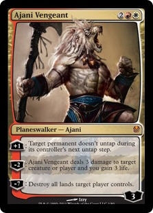 Ajani Vengeant Magic Card