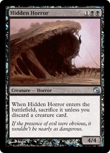 Hidden Horror Magic Card