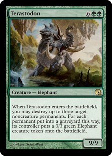 Terastodon Magic Card