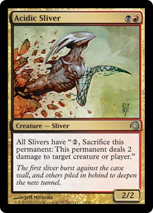 Acidic Sliver Magic Card