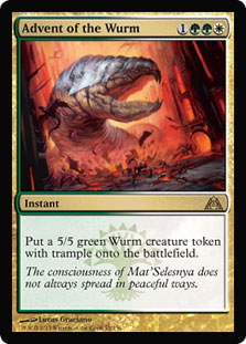 Advent of the Wurm Magic Card
