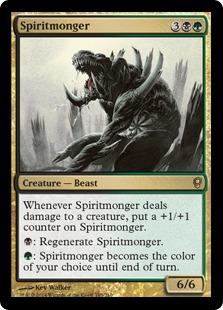 Spiritmonger Magic Card