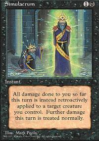 Simulacrum Magic Card