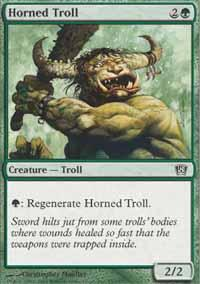 Horned Troll Magic Card