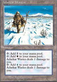 Adarkar Wastes Magic Card