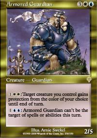 Armored Guardian Magic Card