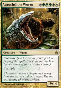 Autochthon Wurm Magic Card