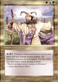 Angus Mackenzie Magic Card
