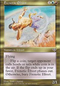 Frenetic Efreet Magic Card