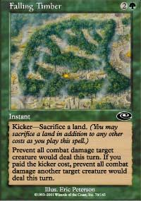 Falling Timber Magic Card