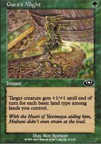 Gaea's Might Magic Card