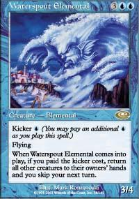 Waterspout Elemental Magic Card