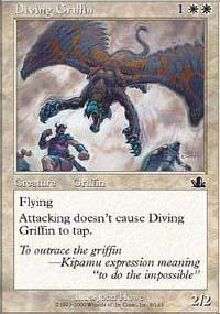 Diving Griffin Magic Card