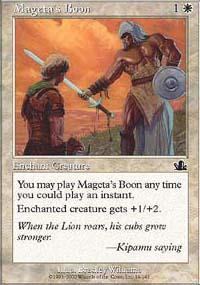 Mageta's Boon Magic Card
