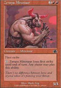 Zerapa Minotaur Magic Card
