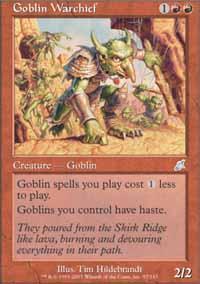 Goblin Warchief Magic Card