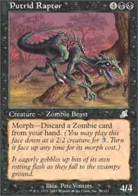 Putrid Raptor Magic Card